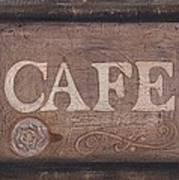 Cafe Sign Poster
