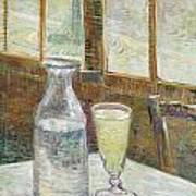 Cafe Table With Absinth Poster