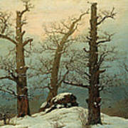 Cairn In Snow Poster