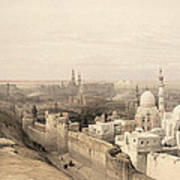 Cairo Looking West, From Egypt Poster