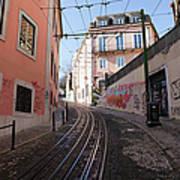 Calcada Da Gloria Street In Lisbon Poster