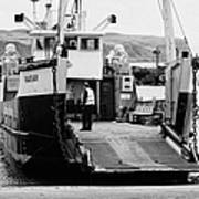 Caledonian Macbrayne Mv Canna Ferry With Vehicle Boarding Ramp Lowered Rathlin Island Pier Harbour N Poster