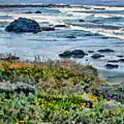 California Central Coast Near San Simeon Poster