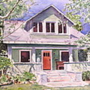 California Craftsman Cottage Poster