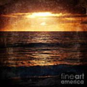 California Grunge Sunset Poster