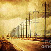 California Highway Poster by Pam Vick