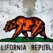 California State Flag Weathered And Worn Poster