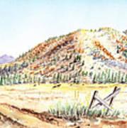 Californian Landscape Saint John Ranch Bald Mountain View Shasta County Poster
