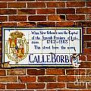 Calle Borbo Poster