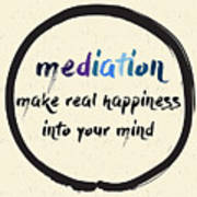 Calligraphy Mediation Make Real Poster