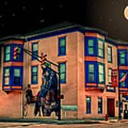 Cambridge City At Night Poster