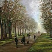 A Walk In Hyde Park London Poster