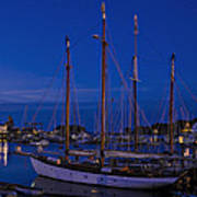 Camden Harbor Maine At 4am Poster