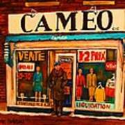 Cameo Dress Shop Poster