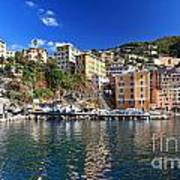 Camogli From The Sea Poster