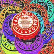 Campari Soda Caps Poster by Tony Rubino