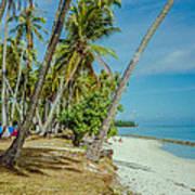Camping In Tahiti Poster