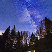 Camping Under The Milky Way Poster