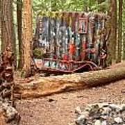 Campsite Near A Train Wreck Poster
