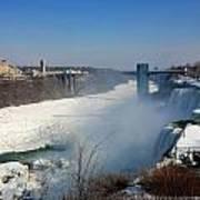 Canada And America At Niagara Falls Poster