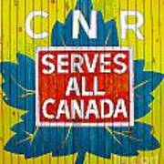 Canadian National Railway Stamp Poster