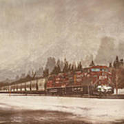 Canadian Pacific In Banff  Poster