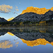 Canadian Rocky Mountain Autumn Landscape Poster