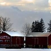 Canadian Snowy Farm Poster