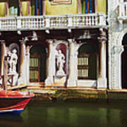 Canal Scene  Venice Italy Poster