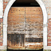 Canalside Weathered Door Venice Italy Poster