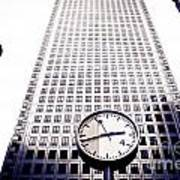 Canary Wharf Clock Poster
