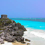 Cancun Ocean Front Poster