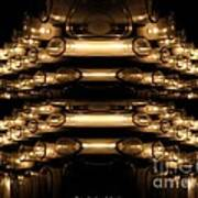 Candle Abstract 4 Poster