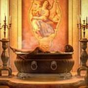 Candle Lit Bath Poster