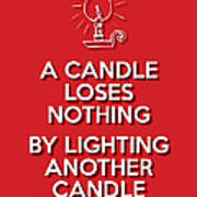 Candle Red Poster