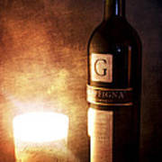 Candle Wine Poster