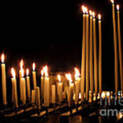 Candles In Church Poster