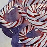 Candy Cane Christmas Poster by Bobbi Price