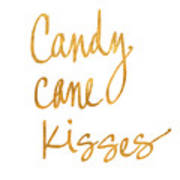 Candy Cane Kisses Poster