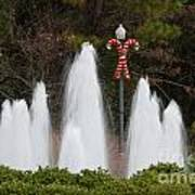 Candy Cane Water Fountain Poster