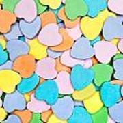 Candy Hearts Poster
