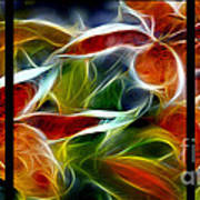 Candy Lily Fractal Triptych Poster