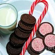 Candycane  Cookies - Milk - Cookies Poster
