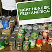 Canned Goods For Food Banks Poster