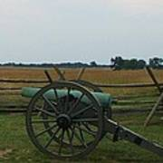 Cannon At Gettysburg Poster