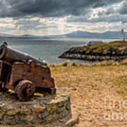 Cannon At Llanddwyn  Poster by Adrian Evans