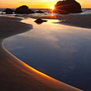 Cannon Beach Sunset Vertical Poster