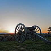 Cannon On Cemetery Ridge Gettysburg Poster