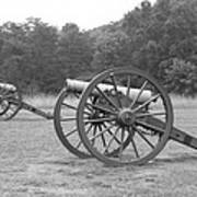 Cannons On Manassas Battlefield Poster