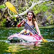 Canoe For Girls Poster